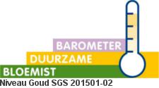 Barometer Duurzame Bloemist Goud