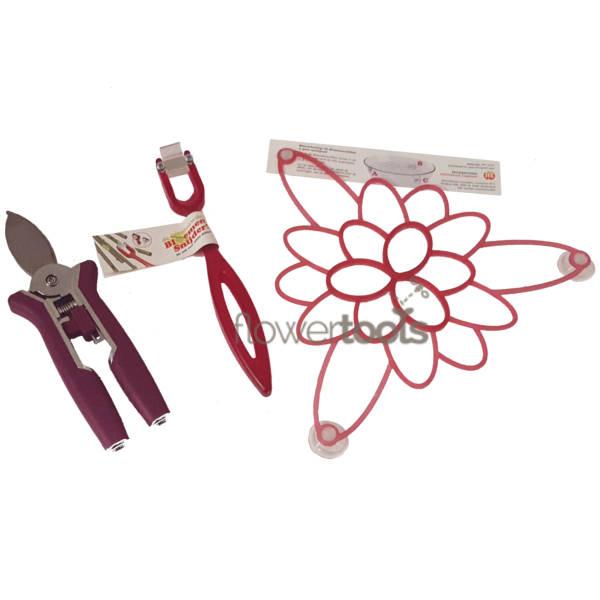 Afbeelding van de combinatie van Kleintje Knip, de Bloemensnijder en de Bloemschikker